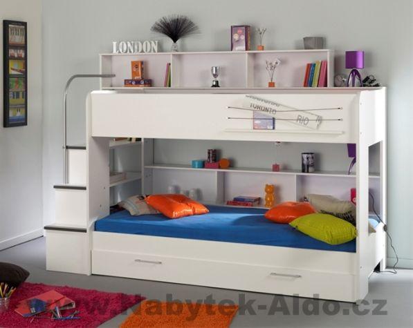 dětská patrová postel z lamina z kolekce Swan, cena: 14 304 Kč