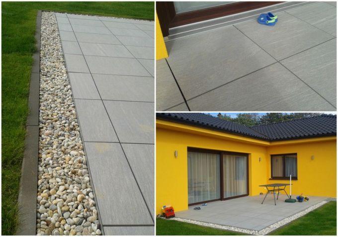 Realizace terasy s použitím 2 cm dlažby