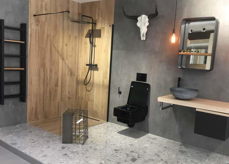 Koupelnová kóje vystavená na showroomu Keraservis Brno