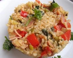 Rýže natural se šunkou a zeleninou